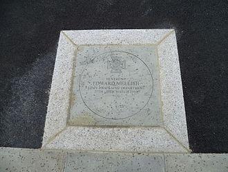 Noel Mellish - The memorial plaque to Noel Mellish in Oakleigh Park, London.