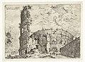 Eerste gezicht op het Colosseum te Rome Romeinse ruïnes (serietitel), RP-P-1882-A-6461.jpg