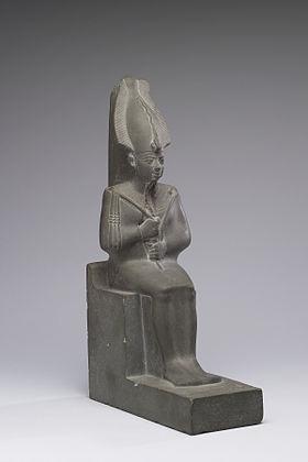 Osiris portant la couronne Atef et les attributs de la royauté