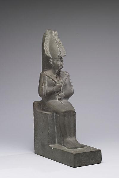 File:Egyptian - Osiris, Lord of the Dead - Walters 22207 - Three Quarter.jpg
