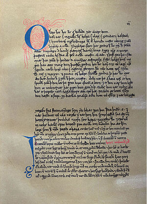 Saga of Erik the Red - A sheet of Eiríks saga rauða.