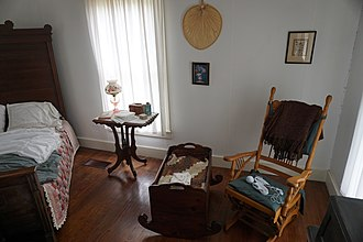 Eisenhower Birthplace State Historic Site - Image: Eisenhower Birthplace State Historic Site June 2017 2 (downstairs bedroom)