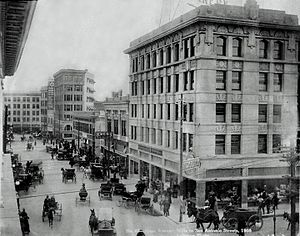 Downtown El Paso - Downtown El Paso in 1908.