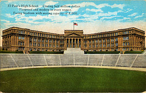 El Paso High School - El Paso High School (postcard, circa 1916)