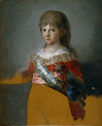 Infante Francisco de Paula of Spain - Infante Francisco de Paula by Francisco de Goya