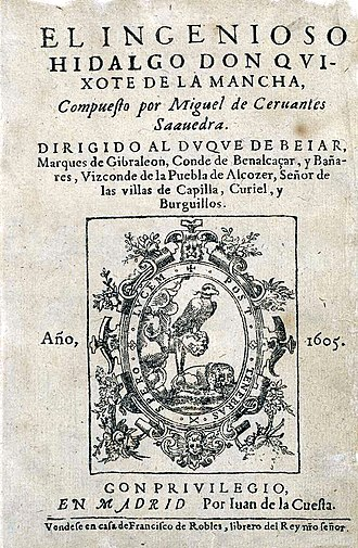 Don Quixote - Title page of first edition (1605)