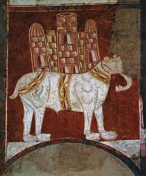 Fichier:Elephant and Castle (Fresco in San Baudelio, Spain).jpg