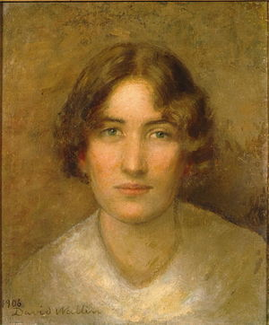 Elin Wallin - Elin Wallin in Paris in 1906. Oilpainting by her husband David Wallin (1876-1957).