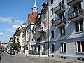 Elisabethenstrasse mit Serbisch - Orthodoxer Kirche - panoramio.jpg