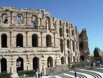 Africa (Roman province) - The amphitheatre of Thysdrus (modern El Djem)