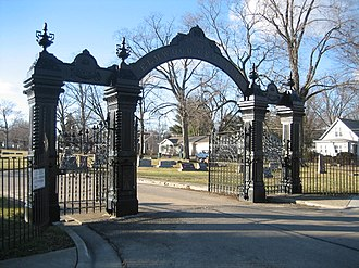 Sycamore, Illinois - Elmwood Cemetery Gates (1865)