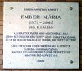 Ember Mária emléktáblája, Budapest, XI., Fehérvári út 31..png