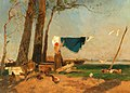 Emil Jakob Schindler - A washerwoman on the Danube bank.jpg