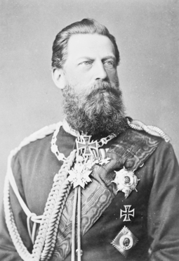 Frederick III, emperor for only 99 days (9 March - 15 June 1888) Emperor Friedrich III.png