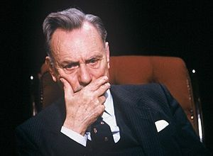 Enoch Powell appearing on television discussio...