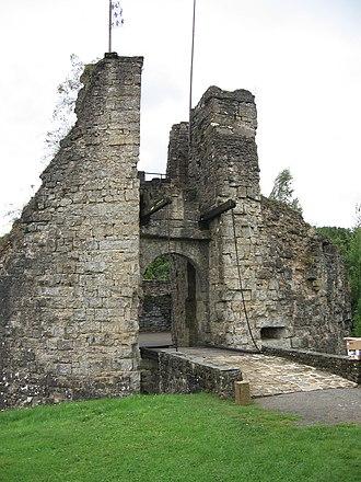 Château de Montcornet - Entry and drawbridge of Montcornet