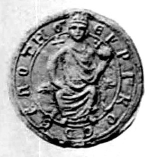 Boril of Bulgaria - Seal of Henry of Flanders, Latin Emperor of Constantinople