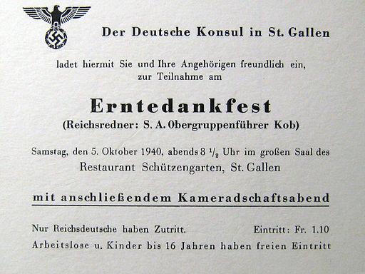 Erntedankfest dt. Konsulat St. Gallen