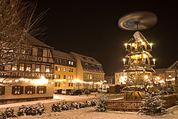 Zwönitz during Christmas time