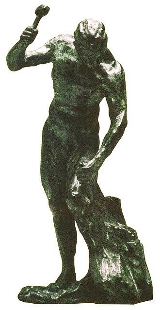 Logosophy - Man sculpting himself by Uruguayan artist Yandí Luzardo, inspired in the objective of Logosophy: conscious evolution of mankind.