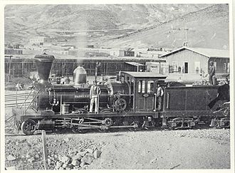 Chañarcillo - Chañarcillo train station in 1862