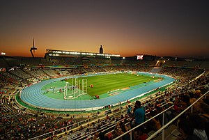 Estadi Olímpic Lluís Companys - Interior of venue during the 2010 European Athletics Championships