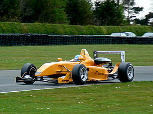 Esteban Guerrieri - Guerrieri driving for Ultimate Motorsport at the Croft round of the 2008 British Formula 3 season.