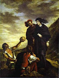 Eugène Delacroix, Hamlet and Horatio in the Graveyard.JPG