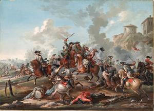 Kasimir Wedig von Bonin - Eighteenth century cavalry in battle