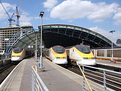 Eurostar trains at Waterloo International (232100094).jpg