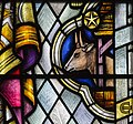 Exeter Cathedral, Stained glass window detail (36232976464).jpg