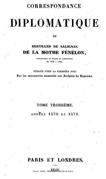 File:Fénelon - Correspondance diplomatique, tome 3.djvu