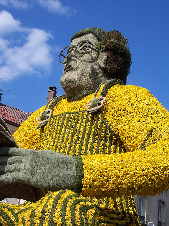 A giant from Gérardmer's Narcissus festival