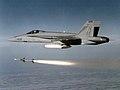 F-18A Hornet of VFA-161 launches AIM-7 Sparrow c1987.jpg