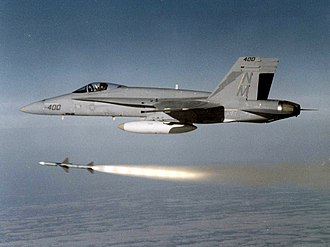 VFA-161 - VFA-161 F/A-18A launches an AIM-7 Sparrow missile in 1983