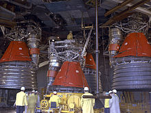 Px F Engines Being Installed on Pressure Chamber Rocket Engine