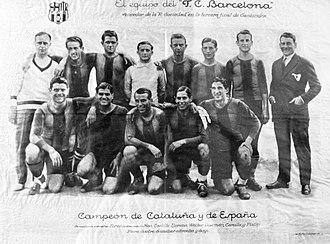 1928 Copa del Rey - Image: FC Barcelona 1928 1929