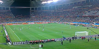 Australia national soccer team - Australia against Germany in Moses Mabhida Stadium, at the 2010 FIFA World Cup.