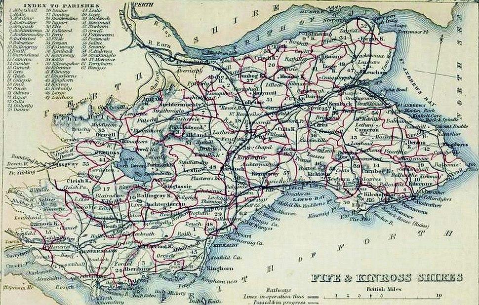 FIFE & KINROSS SHIRES Civil Parish map