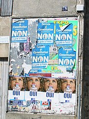 Posters from French referendum