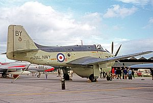 Cawdor Barracks - Fairey Gannet AEW.3 of 849 Squadron based at RNAS Brawdy in 1970