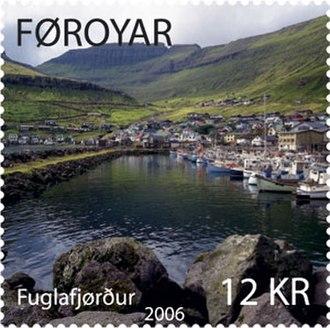 Fuglafjørður - Faroese stamp FO 550: Fuglafjørður Date of issue: 13 February 2006
