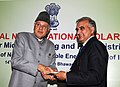 Farooq Abdullah presented the Cash Prizes to the best performing Regional Rural Banks and Certificates for extending loans for SPV home lighting systems during 2009-10, at a function, in New Delhi on February 14, 2011.jpg