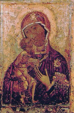 Feodorovskaya Icon of the Mother of God - Original icon from Epiphany Monastery in Kostroma