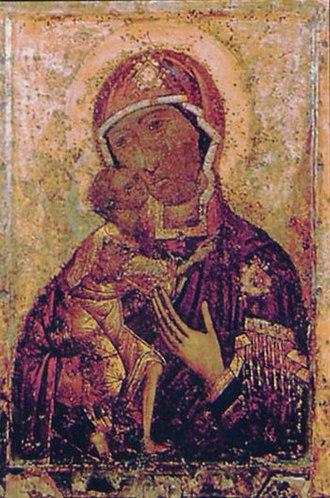 Feodorovskaya Icon of the Mother of God - Original icon from Epiphany Monastery in Kostroma