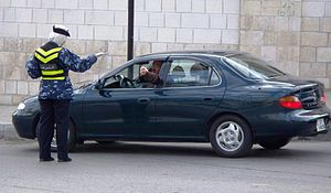 Public Security Directorate - A female police officer in Amman