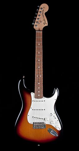 The Fender Stratocaster has one of the most often emulated electric guitar shapes Fender Highway 1 Stratocaster.jpg