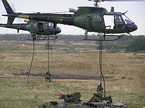 Eskadrille 724 - Soldiers emerging from two AS 550 Fennec from Eskadrille 724