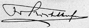 Ferdinand von Richthofen - Image: Ferdinand von Richthofen signature