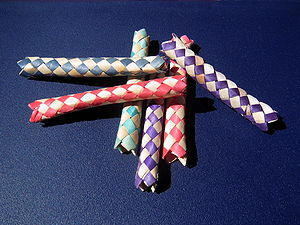 Chinese finger trap (also known as Chinese fin...